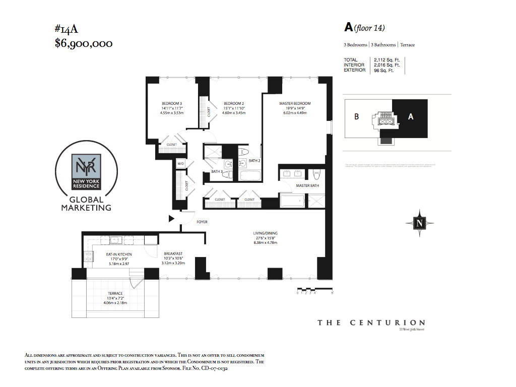 StreetEasy: 33 West 56th St. #14A - Condo Apartment Sale at The Centurion in Midtown, Manhattan