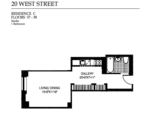 StreetEasy: 20 West St. #38C - Condo Apartment Sale at Downtown Club in Financial District, Manhattan