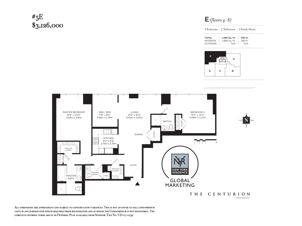 StreetEasy: 33 West 56th St. #5E - Condo Apartment Sale at The Centurion in Midtown, Manhattan