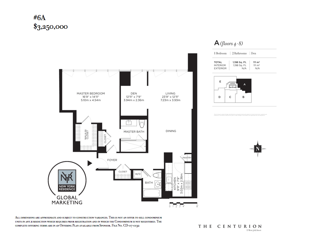 StreetEasy: 33 West 56th St. #6A - Condo Apartment Sale at The Centurion in Midtown, Manhattan
