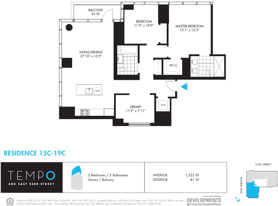 StreetEasy: 300 East 23rd St. #17C - Condo Apartment Sale at Tempo in Gramercy Park, Manhattan