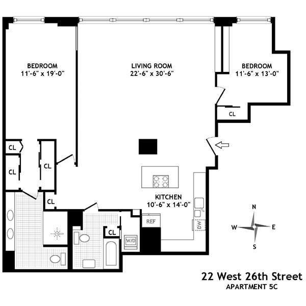 StreetEasy: 22 West 26th St. #5C - Co-op Apartment Sale in NoMad, Manhattan