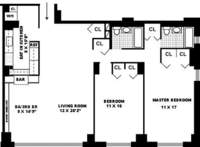 floorplan for 401 East 74th Street #7F