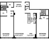 floorplan for 420 East 72nd Street #11L