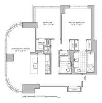floorplan for 306 Gold Street #12G