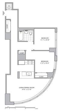 floorplan for 306 Gold Street #3C