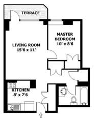 floorplan for 50 Lexington Avenue #10B