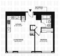 floorplan for 150 Myrtle Avenue #1404