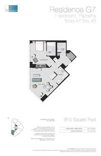 floorplan for 77 - Hudson Street #4707
