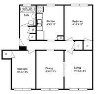 floorplan for 655 41st Street #3A
