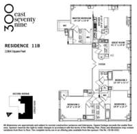 floorplan for 300 East 79th Street #11B