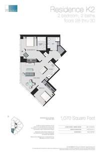 floorplan for 77 - Hudson Street #2810