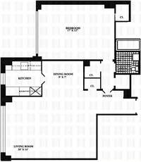 floorplan for 167 East 67th Street #5F
