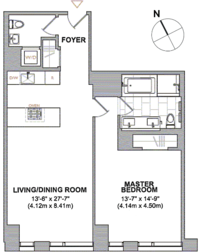 floorplan for 101 Warren Street #900