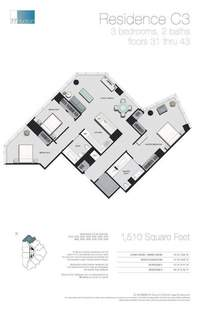 floorplan for 77 - Hudson Street #3503