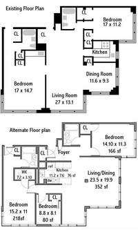 floorplan for 233 East 70th Street #12S