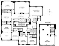 floorplan for 15 Central Park West #PH40B