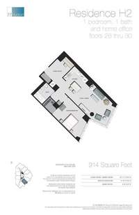 floorplan for 77 - Hudson Street #2808