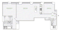 floorplan for 1 River Terrace #3A