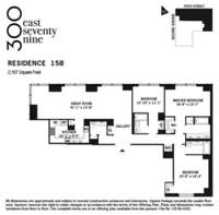 floorplan for 300 East 79th Street #15A