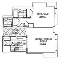 floorplan for 10 West Street #18D
