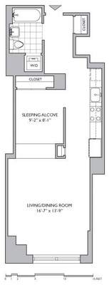 floorplan for 306 Gold Street #6E