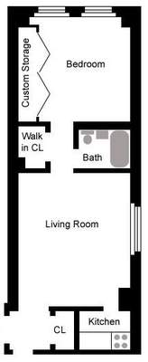 floorplan for 49 West 72nd Street #9B