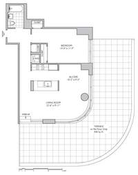 floorplan for 306 Gold Street #18C