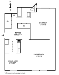 floorplan for 157 West 79th Street #12A