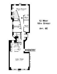 floorplan for 12 West 18th Street #6E