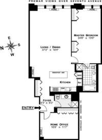 floorplan for 252 Seventh Avenue #10O