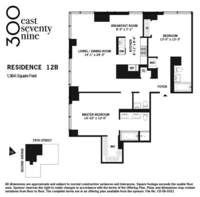 floorplan for 300 East 79th Street #12B