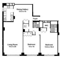 floorplan for 440 East 57th Street #16A