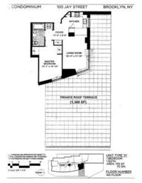 floorplan for 100 Jay Street #4H