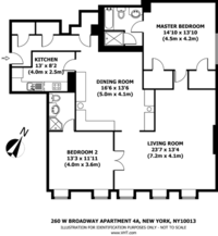 floorplan for 260 West Broadway #4A