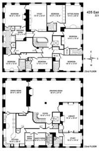 floorplan for 435 East 52nd Street #2223FL