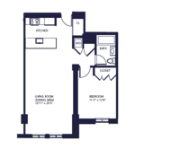 floorplan for 85 Adams Street #6C