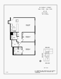 floorplan for 25 Murray Street #8E