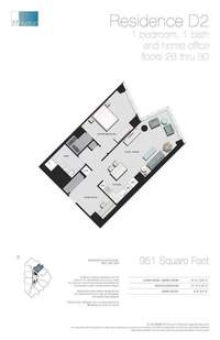 floorplan for 77 - Hudson Street #2804
