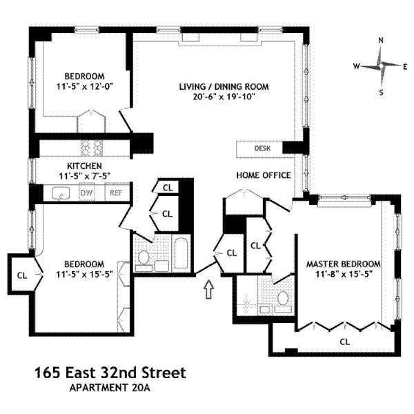 StreetEasy: 165 East 32nd St. #20A - Co-op Apartment Sale in Kips Bay, Manhattan
