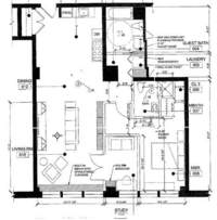 floorplan for 448 West 37th Street #7E