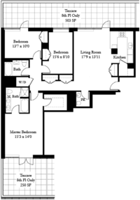 floorplan for 50 West 15th Street #8D