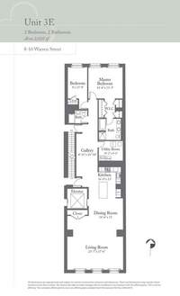 floorplan for 8 Warren Street #3EAST