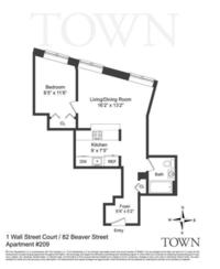 StreetEasy: 1 Wall St. Court #209 - Condo Apartment Sale at Cocoa Exchange in Financial District, Manhattan