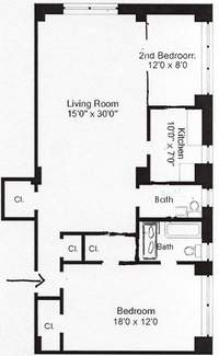 floorplan for 200 East 57th Street #11J