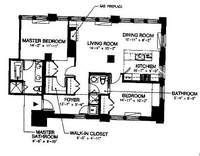 floorplan for 150 Nassau Street #18D