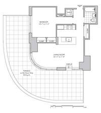 floorplan for 306 Gold Street #18E