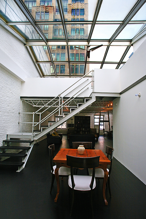 Unique 1,850 s/f Duplex Penthouse in small walkup building.