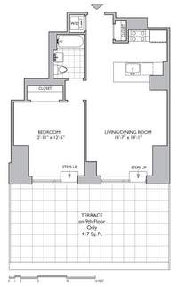 floorplan for 306 Gold Street #18D