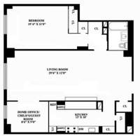floorplan for 401 East 74th Street #12A